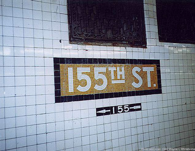 (66k, 635x491)<br><b>Country:</b> United States<br><b>City:</b> New York<br><b>System:</b> New York City Transit<br><b>Line:</b> IND 8th Avenue Line<br><b>Location:</b> 155th Street <br><b>Photo by:</b> Wayne Whitehorne<br><b>Date:</b> 9/24/1999<br><b>Viewed (this week/total):</b> 2 / 3607