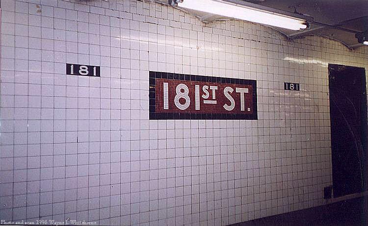 (66k, 750x461)<br><b>Country:</b> United States<br><b>City:</b> New York<br><b>System:</b> New York City Transit<br><b>Line:</b> IND 8th Avenue Line<br><b>Location:</b> 181st Street <br><b>Route:</b> A<br><b>Photo by:</b> Wayne Whitehorne<br><b>Date:</b> 1998<br><b>Viewed (this week/total):</b> 0 / 3341