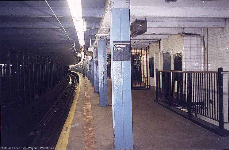(117k, 747x490)<br><b>Country:</b> United States<br><b>City:</b> New York<br><b>System:</b> New York City Transit<br><b>Line:</b> IND 8th Avenue Line<br><b>Location:</b> Dyckman Street/200th Street <br><b>Route:</b> A<br><b>Photo by:</b> Wayne Whitehorne<br><b>Date:</b> 9/24/1999<br><b>Viewed (this week/total):</b> 2 / 6658