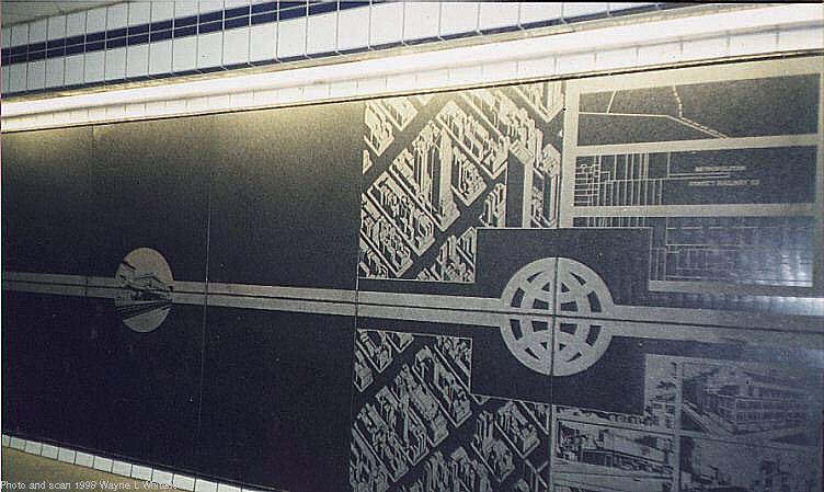 (74k, 752x449)<br><b>Country:</b> United States<br><b>City:</b> New York<br><b>System:</b> New York City Transit<br><b>Line:</b> IND Queens Boulevard Line<br><b>Location:</b> 50th Street <br><b>Photo by:</b> Wayne Whitehorne<br><b>Date:</b> 1/31/1998<br><b>Artwork:</b> <i>Untitled</i>, Matt Mullican (1989).<br><b>Notes:</b> Station artwork<br><b>Viewed (this week/total):</b> 1 / 4335