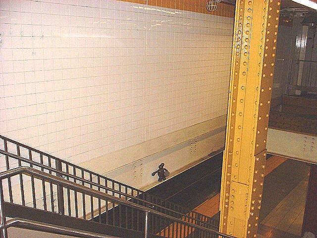 (88k, 640x480)<br><b>Country:</b> United States<br><b>City:</b> New York<br><b>System:</b> New York City Transit<br><b>Line:</b> IND 8th Avenue Line<br><b>Location:</b> 14th Street <br><b>Photo by:</b> Peggy Darlington<br><b>Date:</b> 2000<br><b>Artwork:</b> <i>Life Underground</i>, Tom Otterness (2000).<br><b>Viewed (this week/total):</b> 0 / 3198