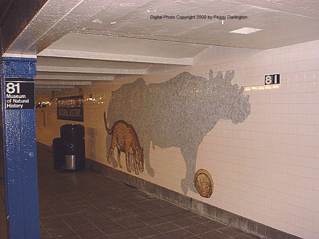 (71k, 640x480)<br><b>Country:</b> United States<br><b>City:</b> New York<br><b>System:</b> New York City Transit<br><b>Line:</b> IND 8th Avenue Line<br><b>Location:</b> 81st Street/Museum of Natural History <br><b>Photo by:</b> Peggy Darlington<br><b>Date:</b> 2000<br><b>Artwork:</b> <i>For Want of a Nail</i>,  MTA Arts for Transit (1999).<br><b>Viewed (this week/total):</b> 0 / 9600