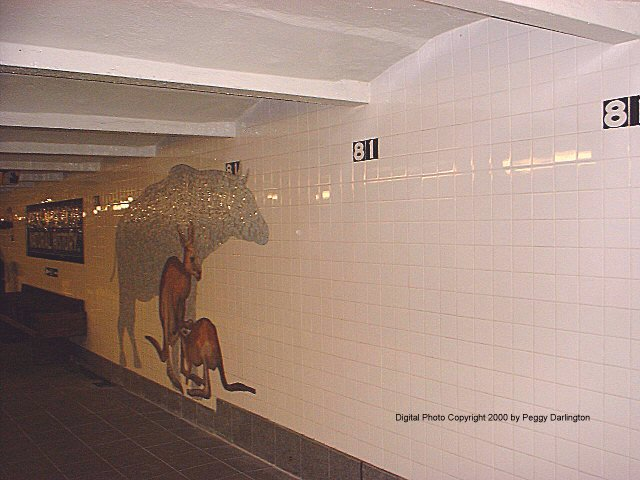(61k, 640x480)<br><b>Country:</b> United States<br><b>City:</b> New York<br><b>System:</b> New York City Transit<br><b>Line:</b> IND 8th Avenue Line<br><b>Location:</b> 81st Street/Museum of Natural History <br><b>Photo by:</b> Peggy Darlington<br><b>Date:</b> 2000<br><b>Artwork:</b> <i>For Want of a Nail</i>,  MTA Arts for Transit (1999).<br><b>Viewed (this week/total):</b> 3 / 9375