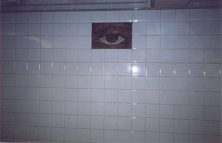 (46k, 752x487)<br><b>Country:</b> United States<br><b>City:</b> New York<br><b>System:</b> New York City Transit<br><b>Line:</b> IND 8th Avenue Line<br><b>Location:</b> Chambers Street/World Trade Center <br><b>Photo by:</b> Wayne Whitehorne<br><b>Date:</b> 2/27/1999<br><b>Artwork:</b> <i>Oculus</i>,  Jones/Ginzel (1998).<br><b>Notes:</b> Art installation, platform stairwell.<br><b>Viewed (this week/total):</b> 4 / 3305