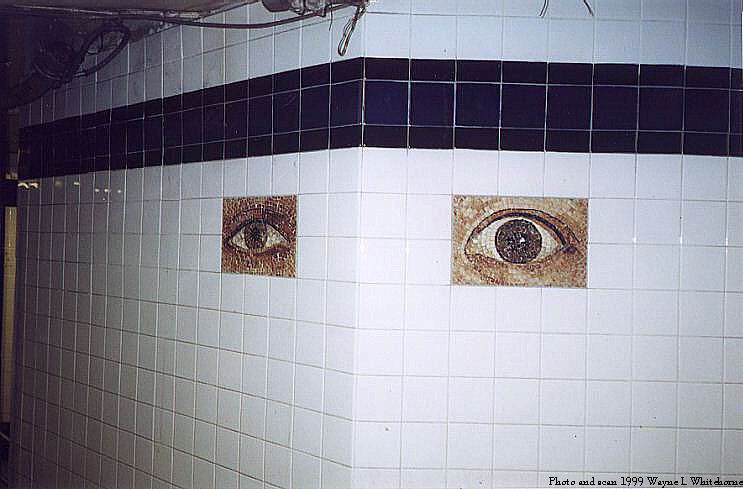 (56k, 743x489)<br><b>Country:</b> United States<br><b>City:</b> New York<br><b>System:</b> New York City Transit<br><b>Line:</b> IND 8th Avenue Line<br><b>Location:</b> Chambers Street/World Trade Center <br><b>Photo by:</b> Wayne Whitehorne<br><b>Date:</b> 2/27/1999<br><b>Artwork:</b> <i>Oculus</i>,  Jones/Ginzel (1998).<br><b>Notes:</b> Art installation, passageway.<br><b>Viewed (this week/total):</b> 2 / 4395