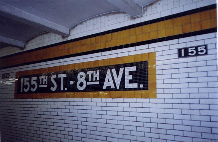 (65k, 748x488)<br><b>Country:</b> United States<br><b>City:</b> New York<br><b>System:</b> New York City Transit<br><b>Line:</b> IND Concourse Line<br><b>Location:</b> 155th Street/8th Avenue <br><b>Photo by:</b> Wayne Whitehorne<br><b>Date:</b> 9/24/1999<br><b>Viewed (this week/total):</b> 2 / 3380