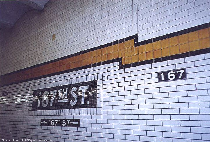 (97k, 723x491)<br><b>Country:</b> United States<br><b>City:</b> New York<br><b>System:</b> New York City Transit<br><b>Line:</b> IND Concourse Line<br><b>Location:</b> 167th Street <br><b>Photo by:</b> Wayne Whitehorne<br><b>Date:</b> 9/24/1999<br><b>Viewed (this week/total):</b> 1 / 3741