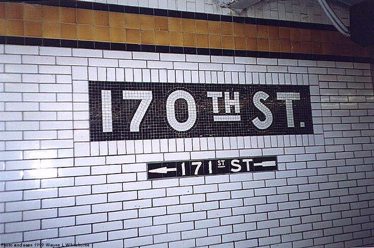 (86k, 734x486)<br><b>Country:</b> United States<br><b>City:</b> New York<br><b>System:</b> New York City Transit<br><b>Line:</b> IND Concourse Line<br><b>Location:</b> 170th Street <br><b>Photo by:</b> Wayne Whitehorne<br><b>Date:</b> 9/24/1999<br><b>Viewed (this week/total):</b> 0 / 3502