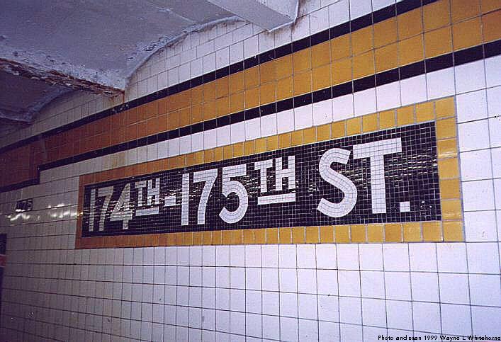 (76k, 707x483)<br><b>Country:</b> United States<br><b>City:</b> New York<br><b>System:</b> New York City Transit<br><b>Line:</b> IND Concourse Line<br><b>Location:</b> 174th/175th Street <br><b>Photo by:</b> Wayne Whitehorne<br><b>Date:</b> 9/24/1999<br><b>Viewed (this week/total):</b> 0 / 2889