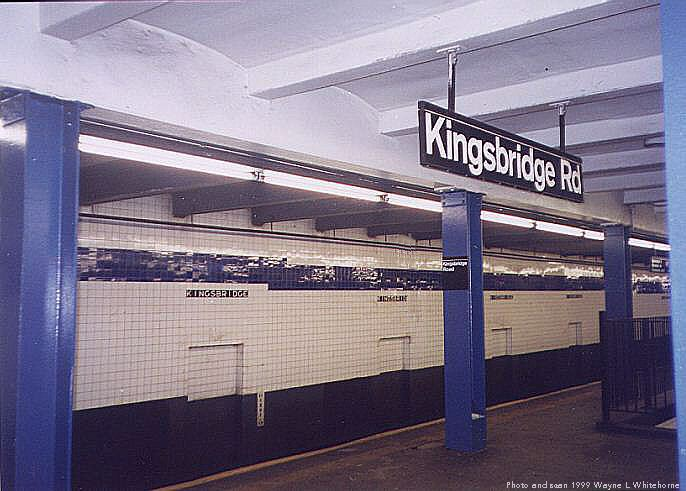 (64k, 686x491)<br><b>Country:</b> United States<br><b>City:</b> New York<br><b>System:</b> New York City Transit<br><b>Line:</b> IND Concourse Line<br><b>Location:</b> Kingsbridge Road <br><b>Photo by:</b> Wayne Whitehorne<br><b>Date:</b> 9/24/1999<br><b>Viewed (this week/total):</b> 3 / 4242