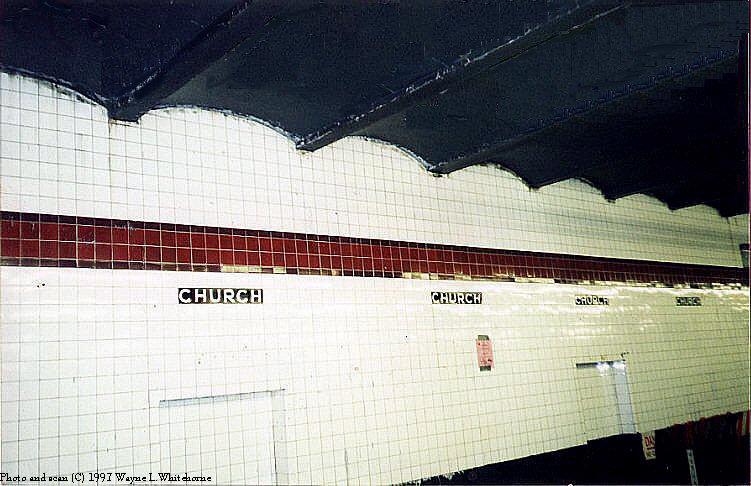 (82k, 751x486)<br><b>Country:</b> United States<br><b>City:</b> New York<br><b>System:</b> New York City Transit<br><b>Line:</b> IND Crosstown Line<br><b>Location:</b> Church Avenue <br><b>Photo by:</b> Wayne Whitehorne<br><b>Date:</b> 12/26/1997<br><b>Notes:</b> Church Avenue wall tile<br><b>Viewed (this week/total):</b> 0 / 2655