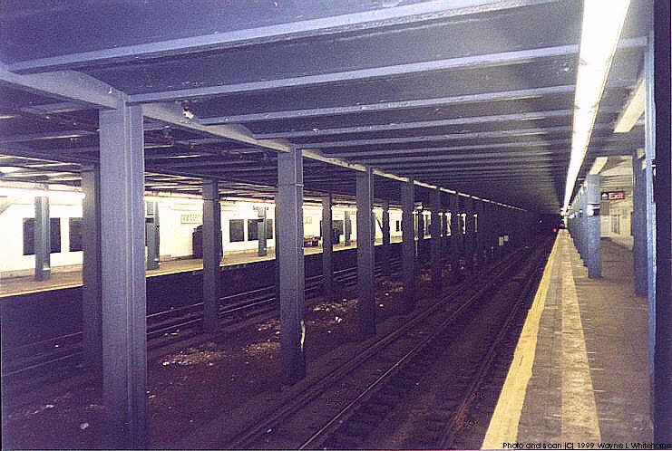 (99k, 741x498)<br><b>Country:</b> United States<br><b>City:</b> New York<br><b>System:</b> New York City Transit<br><b>Line:</b> IND Crosstown Line<br><b>Location:</b> Classon Avenue <br><b>Photo by:</b> Wayne Whitehorne<br><b>Date:</b> 1/28/1999<br><b>Viewed (this week/total):</b> 11 / 5852