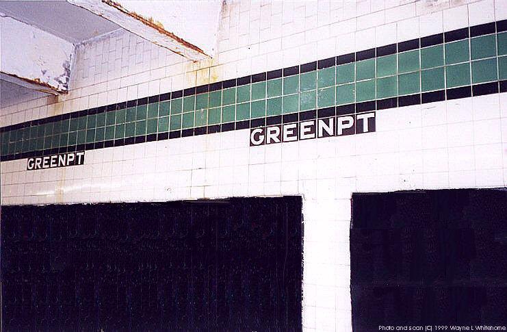 (76k, 741x485)<br><b>Country:</b> United States<br><b>City:</b> New York<br><b>System:</b> New York City Transit<br><b>Line:</b> IND Crosstown Line<br><b>Location:</b> Greenpoint Avenue <br><b>Photo by:</b> Wayne Whitehorne<br><b>Date:</b> 1/9/1999<br><b>Notes:</b> Wall tile<br><b>Viewed (this week/total):</b> 1 / 2991