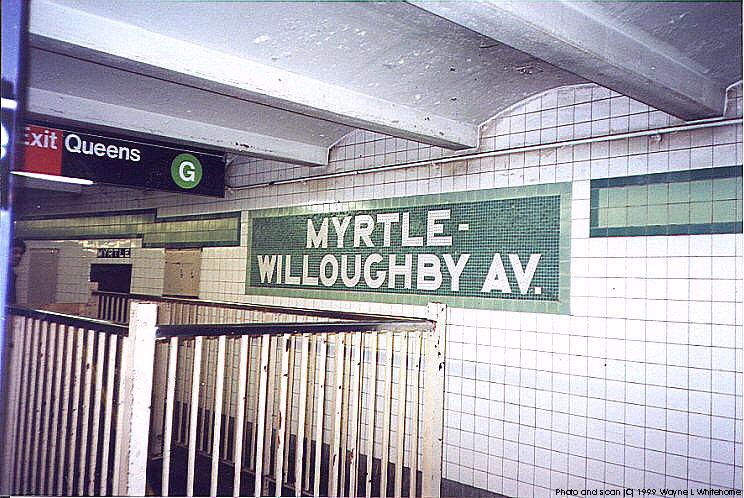 (116k, 744x498)<br><b>Country:</b> United States<br><b>City:</b> New York<br><b>System:</b> New York City Transit<br><b>Line:</b> IND Crosstown Line<br><b>Location:</b> Myrtle/Willoughby Aves. <br><b>Photo by:</b> Wayne Whitehorne<br><b>Date:</b> 1/28/1999<br><b>Viewed (this week/total):</b> 3 / 4674