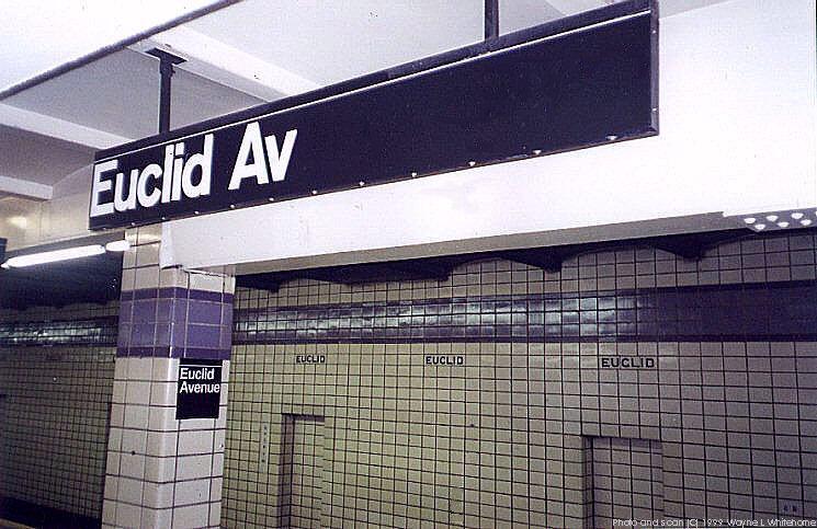 (93k, 745x483)<br><b>Country:</b> United States<br><b>City:</b> New York<br><b>System:</b> New York City Transit<br><b>Line:</b> IND Fulton Street Line<br><b>Location:</b> Euclid Avenue <br><b>Photo by:</b> Wayne Whitehorne<br><b>Date:</b> 1/28/1999<br><b>Viewed (this week/total):</b> 0 / 2796