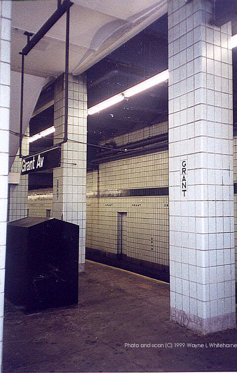 (87k, 478x751)<br><b>Country:</b> United States<br><b>City:</b> New York<br><b>System:</b> New York City Transit<br><b>Line:</b> IND Fulton Street Line<br><b>Location:</b> Grant Avenue <br><b>Route:</b> A<br><b>Photo by:</b> Wayne Whitehorne<br><b>Date:</b> 1/28/1999<br><b>Notes:</b> View of west end of station<br><b>Viewed (this week/total):</b> 4 / 4475