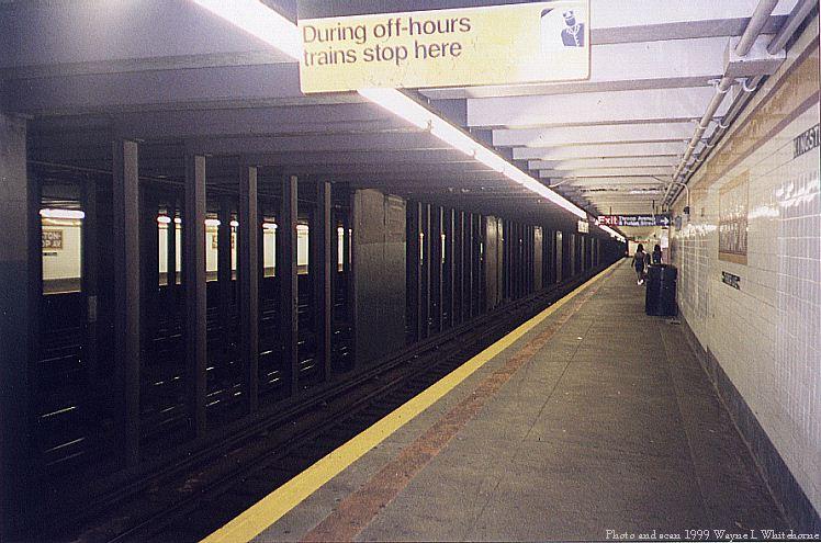 (81k, 748x495)<br><b>Country:</b> United States<br><b>City:</b> New York<br><b>System:</b> New York City Transit<br><b>Line:</b> IND Fulton Street Line<br><b>Location:</b> Kingston/Throop Aves. <br><b>Photo by:</b> Wayne Whitehorne<br><b>Date:</b> 5/29/1999<br><b>Notes:</b> Wall tile<br><b>Viewed (this week/total):</b> 1 / 4742