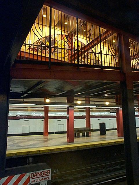 (61k, 480x640)<br><b>Country:</b> United States<br><b>City:</b> New York<br><b>System:</b> New York City Transit<br><b>Line:</b> IND Fulton Street Line<br><b>Location:</b> Utica Avenue <br><b>Photo by:</b> Richard Brome<br><b>Date:</b> 3/18/1999<br><b>Viewed (this week/total):</b> 0 / 3942