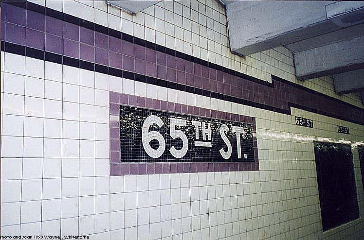 (80k, 748x494)<br><b>Country:</b> United States<br><b>City:</b> New York<br><b>System:</b> New York City Transit<br><b>Line:</b> IND Queens Boulevard Line<br><b>Location:</b> 65th Street <br><b>Photo by:</b> Wayne Whitehorne<br><b>Date:</b> 4/18/1998<br><b>Notes:</b> Tablet<br><b>Viewed (this week/total):</b> 7 / 3247