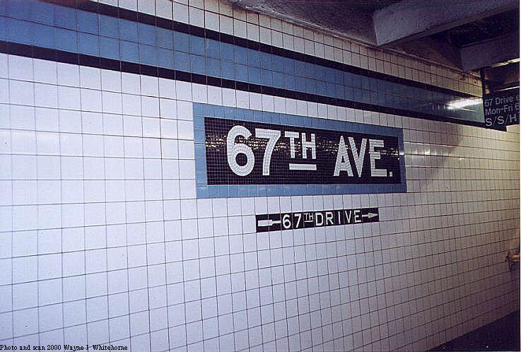 (76k, 737x498)<br><b>Country:</b> United States<br><b>City:</b> New York<br><b>System:</b> New York City Transit<br><b>Line:</b> IND Queens Boulevard Line<br><b>Location:</b> 67th Avenue <br><b>Photo by:</b> Wayne Whitehorne<br><b>Date:</b> 1/8/2000<br><b>Notes:</b> Tablet<br><b>Viewed (this week/total):</b> 1 / 3254