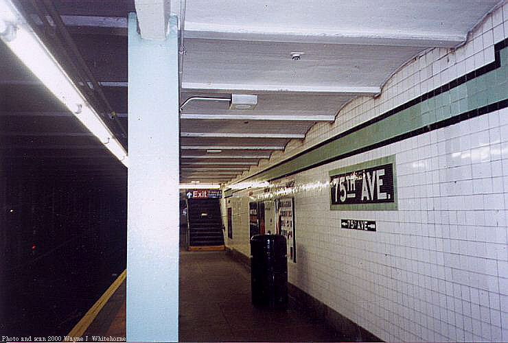 (66k, 740x500)<br><b>Country:</b> United States<br><b>City:</b> New York<br><b>System:</b> New York City Transit<br><b>Line:</b> IND Queens Boulevard Line<br><b>Location:</b> 75th Avenue <br><b>Photo by:</b> Wayne Whitehorne<br><b>Date:</b> 1/8/2000<br><b>Viewed (this week/total):</b> 0 / 3424
