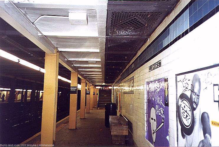 (82k, 742x497)<br><b>Country:</b> United States<br><b>City:</b> New York<br><b>System:</b> New York City Transit<br><b>Line:</b> IND Queens Boulevard Line<br><b>Location:</b> Elmhurst Avenue <br><b>Photo by:</b> Wayne Whitehorne<br><b>Date:</b> 12/11/1999<br><b>Viewed (this week/total):</b> 2 / 4655