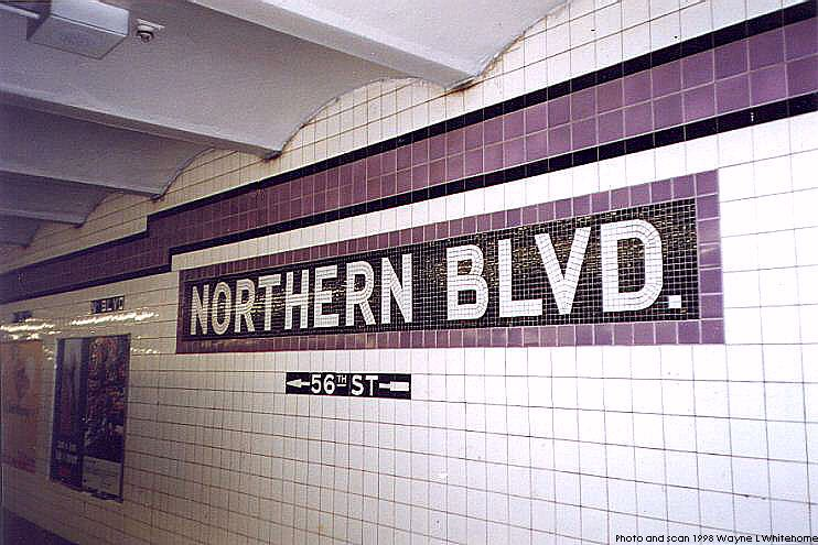 (82k, 742x495)<br><b>Country:</b> United States<br><b>City:</b> New York<br><b>System:</b> New York City Transit<br><b>Line:</b> IND Queens Boulevard Line<br><b>Location:</b> Northern Boulevard <br><b>Photo by:</b> Wayne Whitehorne<br><b>Date:</b> 9/30/1998<br><b>Notes:</b> Tablet<br><b>Viewed (this week/total):</b> 1 / 3317