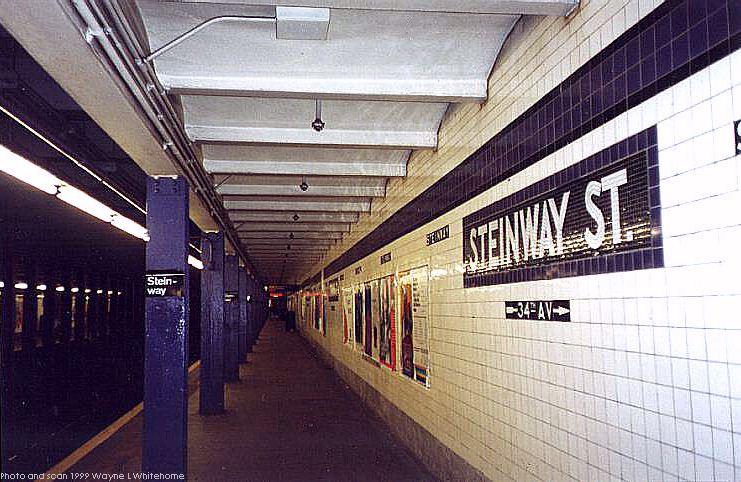 (88k, 741x482)<br><b>Country:</b> United States<br><b>City:</b> New York<br><b>System:</b> New York City Transit<br><b>Line:</b> IND Queens Boulevard Line<br><b>Location:</b> Steinway Street <br><b>Photo by:</b> Wayne Whitehorne<br><b>Date:</b> 12/11/1999<br><b>Viewed (this week/total):</b> 1 / 4166
