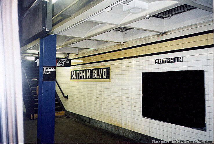 (95k, 738x497)<br><b>Country:</b> United States<br><b>City:</b> New York<br><b>System:</b> New York City Transit<br><b>Line:</b> IND Queens Boulevard Line<br><b>Location:</b> Sutphin Boulevard <br><b>Photo by:</b> Wayne Whitehorne<br><b>Date:</b> 1/3/1998<br><b>Viewed (this week/total):</b> 6 / 4405