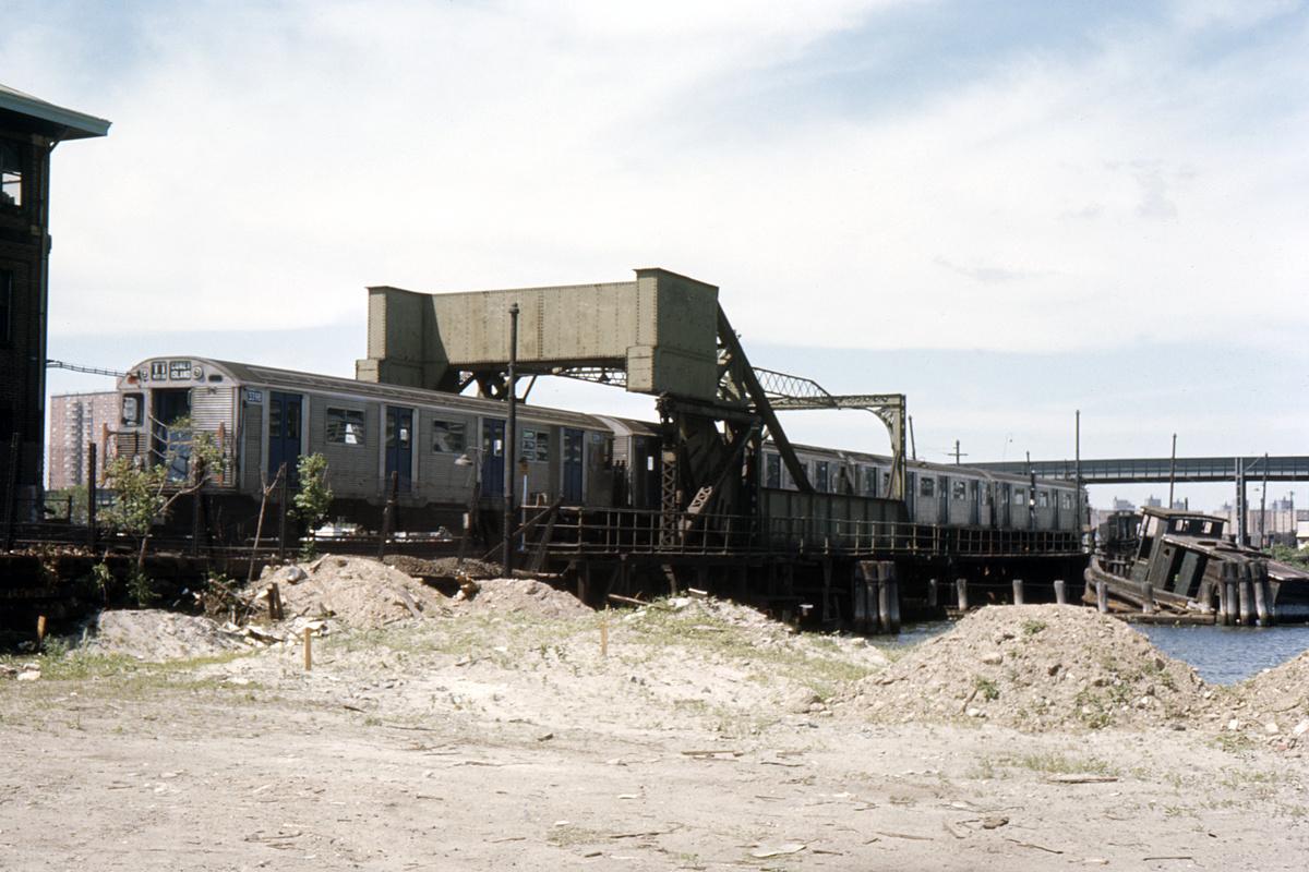 (416k, 1024x683)<br><b>Country:</b> United States<br><b>City:</b> New York<br><b>System:</b> New York City Transit<br><b>Location:</b> Coney Island Creek Bridge<br><b>Car:</b> R-32 (Budd, 1964)  3398 <br><b>Collection of:</b> David Pirmann<br><b>Date:</b> 6/25/1966<br><b>Viewed (this week/total):</b> 1 / 2472