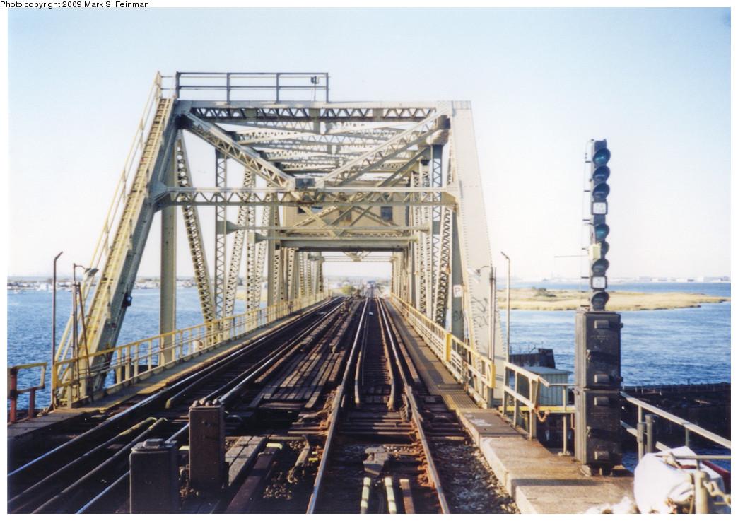 (255k, 1044x737)<br><b>Country:</b> United States<br><b>City:</b> New York<br><b>System:</b> New York City Transit<br><b>Line:</b> IND Rockaway<br><b>Location:</b> North Channel Bridge <br><b>Photo by:</b> Mark S. Feinman<br><b>Date:</b> 1993<br><b>Notes:</b> Jamaica Bay Trestle<br><b>Viewed (this week/total):</b> 0 / 2148