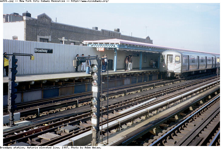 (89k, 736x495)<br><b>Country:</b> United States<br><b>City:</b> New York<br><b>System:</b> New York City Transit<br><b>Line:</b> BMT Astoria Line<br><b>Location:</b> Broadway <br><b>Route:</b> N<br><b>Photo by:</b> Adam Weiss<br><b>Date:</b> 1997<br><b>Viewed (this week/total):</b> 0 / 2874