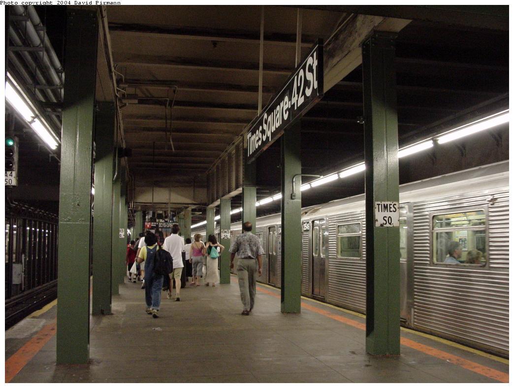 (122k, 1044x788)<br><b>Country:</b> United States<br><b>City:</b> New York<br><b>System:</b> New York City Transit<br><b>Line:</b> BMT Broadway Line<br><b>Location:</b> Times Square/42nd Street <br><b>Photo by:</b> David Pirmann<br><b>Date:</b> 7/3/2000<br><b>Viewed (this week/total):</b> 1 / 5875
