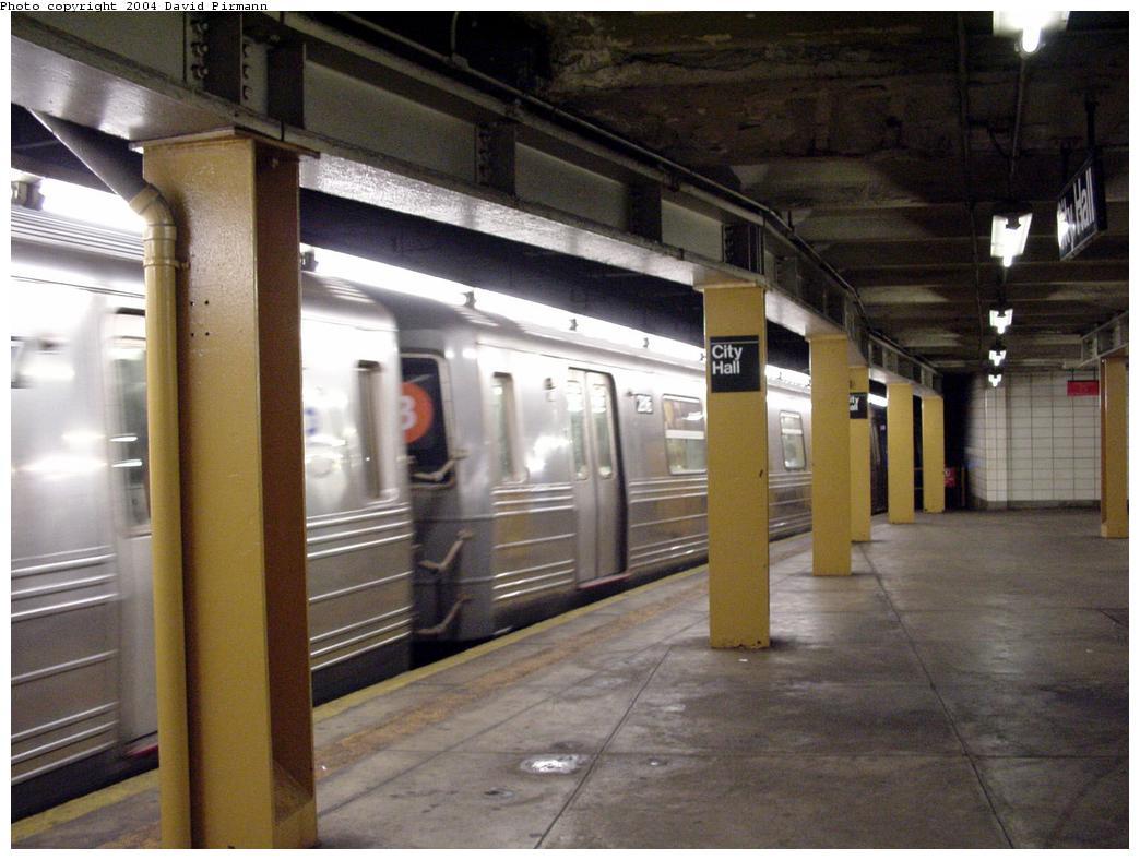 (118k, 1044x788)<br><b>Country:</b> United States<br><b>City:</b> New York<br><b>System:</b> New York City Transit<br><b>Line:</b> BMT Broadway Line<br><b>Location:</b> City Hall <br><b>Photo by:</b> David Pirmann<br><b>Date:</b> 7/3/2000<br><b>Viewed (this week/total):</b> 13 / 4431