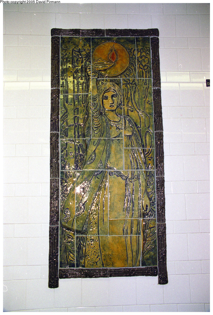 (265k, 706x1043)<br><b>Country:</b> United States<br><b>City:</b> New York<br><b>System:</b> New York City Transit<br><b>Line:</b> BMT Broadway Line<br><b>Location:</b> Cortlandt Street-World Trade Center <br><b>Photo by:</b> David Pirmann<br><b>Date:</b> 7/18/1998<br><b>Artwork:</b> <i>Trade, Treasure, and Travel</i>, Margie Hughto (1997).<br><b>Viewed (this week/total):</b> 0 / 2985