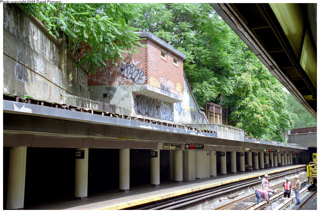 (281k, 1044x696)<br><b>Country:</b> United States<br><b>City:</b> New York<br><b>System:</b> New York City Transit<br><b>Line:</b> BMT Brighton Line<br><b>Location:</b> Church Avenue <br><b>Photo by:</b> David Pirmann<br><b>Date:</b> 7/18/1998<br><b>Viewed (this week/total):</b> 3 / 5240