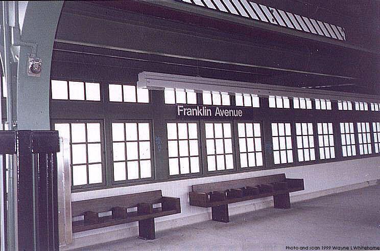 (75k, 744x491)<br><b>Country:</b> United States<br><b>City:</b> New York<br><b>System:</b> New York City Transit<br><b>Line:</b> BMT Franklin<br><b>Location:</b> Franklin Avenue <br><b>Route:</b> Franklin Shuttle<br><b>Photo by:</b> Wayne Whitehorne<br><b>Date:</b> 11/8/1999<br><b>Viewed (this week/total):</b> 2 / 3507