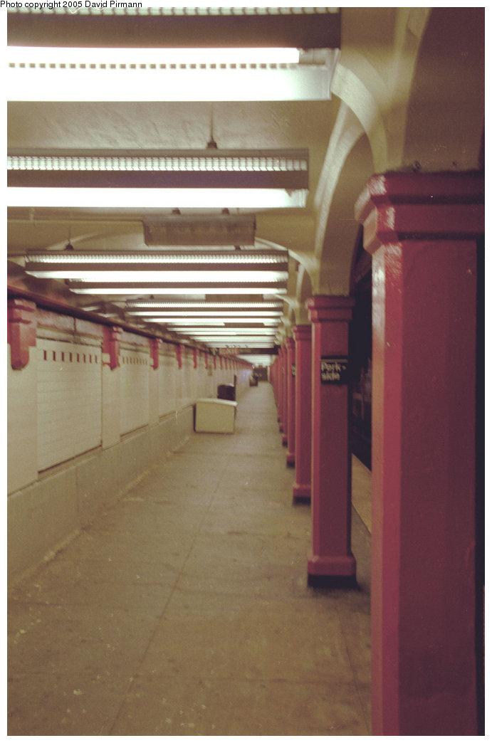 (131k, 691x1044)<br><b>Country:</b> United States<br><b>City:</b> New York<br><b>System:</b> New York City Transit<br><b>Line:</b> BMT Brighton Line<br><b>Location:</b> Parkside Avenue <br><b>Photo by:</b> David Pirmann<br><b>Date:</b> 7/18/1998<br><b>Viewed (this week/total):</b> 0 / 3109
