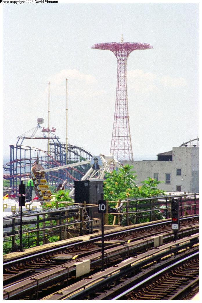 (220k, 696x1044)<br><b>Country:</b> United States<br><b>City:</b> New York<br><b>System:</b> New York City Transit<br><b>Line:</b> BMT Brighton Line<br><b>Location:</b> West 8th Street <br><b>Route:</b> D<br><b>Photo by:</b> David Pirmann<br><b>Date:</b> 7/18/1998<br><b>Notes:</b> View of Coney Island<br><b>Viewed (this week/total):</b> 3 / 4735