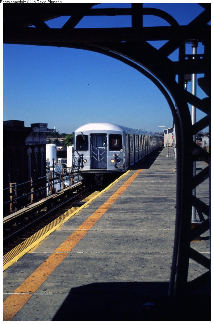 (171k, 693x1045)<br><b>Country:</b> United States<br><b>City:</b> New York<br><b>System:</b> New York City Transit<br><b>Line:</b> BMT Nassau Street/Jamaica Line<br><b>Location:</b> Crescent Street <br><b>Route:</b> J<br><b>Car:</b> R-40M (St. Louis, 1969)   <br><b>Photo by:</b> David Pirmann<br><b>Date:</b> 8/1/1998<br><b>Viewed (this week/total):</b> 0 / 4173