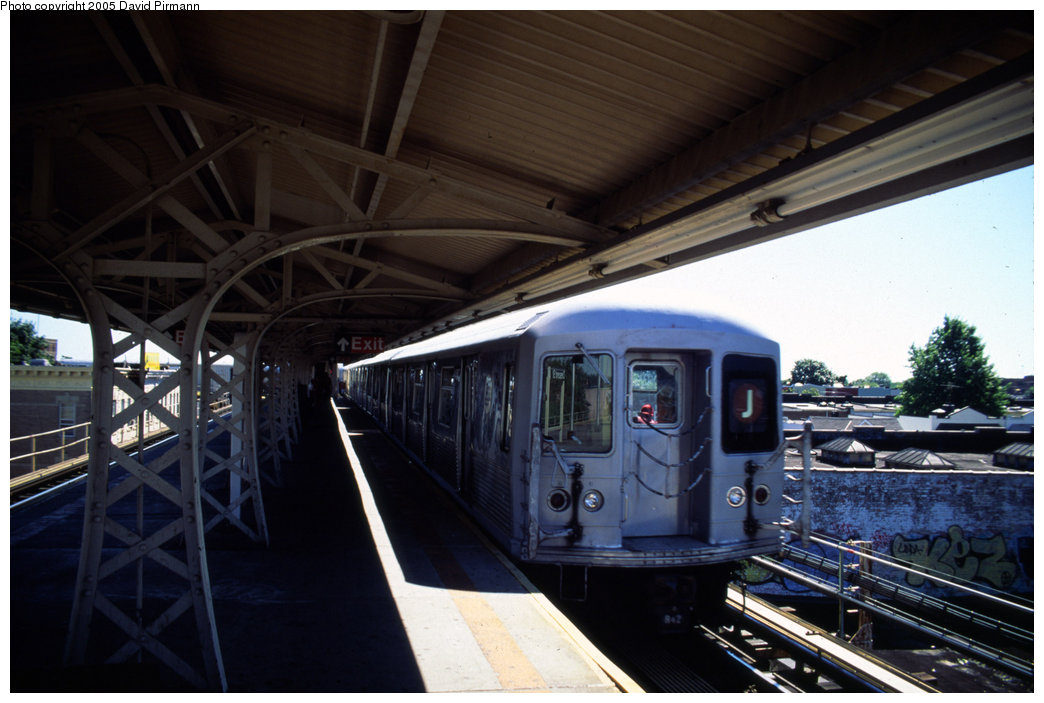 (169k, 1044x703)<br><b>Country:</b> United States<br><b>City:</b> New York<br><b>System:</b> New York City Transit<br><b>Line:</b> BMT Nassau Street/Jamaica Line<br><b>Location:</b> Crescent Street <br><b>Route:</b> J<br><b>Car:</b> R-42 (St. Louis, 1969-1970)   <br><b>Photo by:</b> David Pirmann<br><b>Date:</b> 8/1/1998<br><b>Viewed (this week/total):</b> 3 / 4641