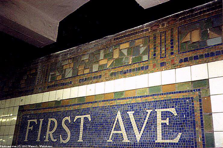 (91k, 740x494)<br><b>Country:</b> United States<br><b>City:</b> New York<br><b>System:</b> New York City Transit<br><b>Line:</b> BMT Canarsie Line<br><b>Location:</b> 1st Avenue <br><b>Route:</b> L<br><b>Photo by:</b> Wayne Whitehorne<br><b>Date:</b> 8/23/1997<br><b>Viewed (this week/total):</b> 0 / 3219