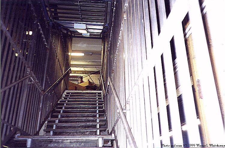 (96k, 750x496)<br><b>Country:</b> United States<br><b>City:</b> New York<br><b>System:</b> New York City Transit<br><b>Line:</b> BMT Canarsie Line<br><b>Location:</b> 6th Avenue <br><b>Route:</b> L<br><b>Photo by:</b> Wayne Whitehorne<br><b>Date:</b> 4/24/1999<br><b>Notes:</b> Closed stairwell<br><b>Viewed (this week/total):</b> 3 / 4075