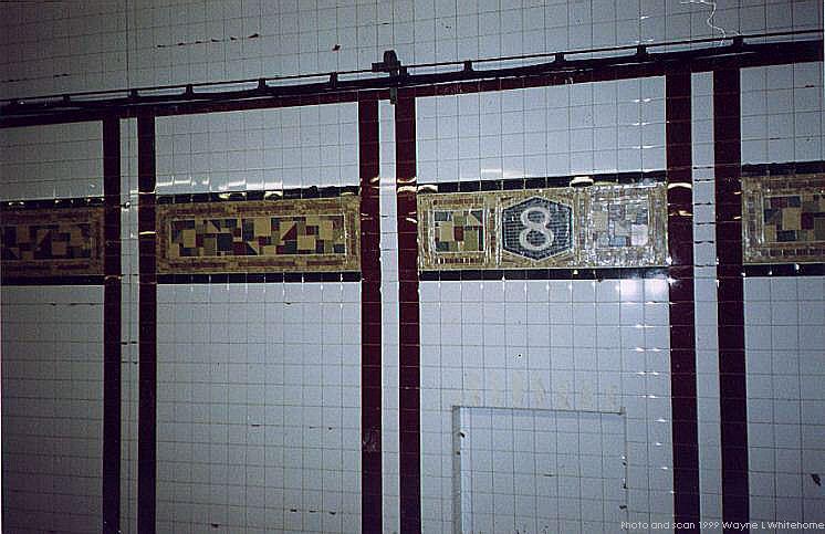 (74k, 746x483)<br><b>Country:</b> United States<br><b>City:</b> New York<br><b>System:</b> New York City Transit<br><b>Line:</b> BMT Canarsie Line<br><b>Location:</b> 8th Avenue <br><b>Route:</b> L<br><b>Photo by:</b> Wayne Whitehorne<br><b>Date:</b> 11/8/1999<br><b>Notes:</b> New frieze<br><b>Viewed (this week/total):</b> 0 / 1985