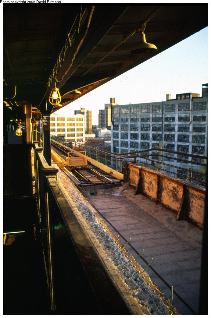 (190k, 692x1044)<br><b>Country:</b> United States<br><b>City:</b> New York<br><b>System:</b> New York City Transit<br><b>Line:</b> BMT Canarsie Line<br><b>Location:</b> Atlantic Avenue <br><b>Photo by:</b> David Pirmann<br><b>Date:</b> 4/30/1999<br><b>Notes:</b> View of the reconstruction work in progress at Atlantic Ave.<br><b>Viewed (this week/total):</b> 5 / 2560