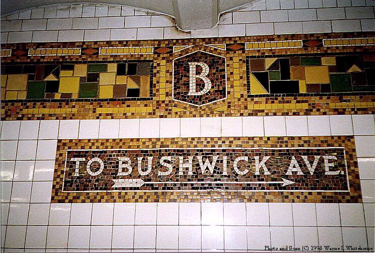 (130k, 744x502)<br><b>Country:</b> United States<br><b>City:</b> New York<br><b>System:</b> New York City Transit<br><b>Line:</b> BMT Canarsie Line<br><b>Location:</b> Bushwick-Aberdeen <br><b>Route:</b> L<br><b>Photo by:</b> Wayne Whitehorne<br><b>Date:</b> 8/21/1998<br><b>Viewed (this week/total):</b> 3 / 3143