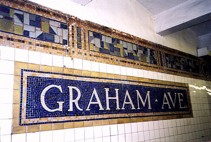 (96k, 743x500)<br><b>Country:</b> United States<br><b>City:</b> New York<br><b>System:</b> New York City Transit<br><b>Line:</b> BMT Canarsie Line<br><b>Location:</b> Graham Avenue <br><b>Route:</b> L<br><b>Photo by:</b> Wayne Whitehorne<br><b>Viewed (this week/total):</b> 2 / 2773