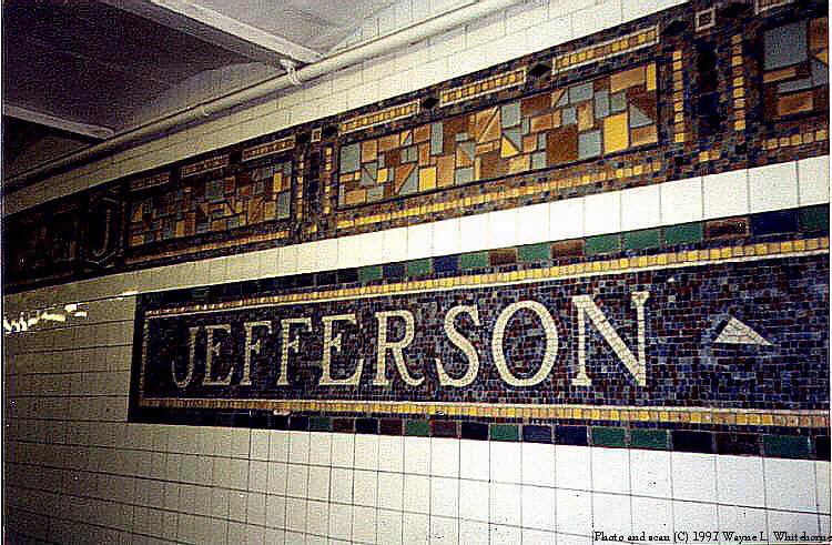 (102k, 750x491)<br><b>Country:</b> United States<br><b>City:</b> New York<br><b>System:</b> New York City Transit<br><b>Line:</b> BMT Canarsie Line<br><b>Location:</b> Jefferson Street <br><b>Route:</b> L<br><b>Photo by:</b> Wayne Whitehorne<br><b>Date:</b> 9/28/1997<br><b>Viewed (this week/total):</b> 2 / 2845