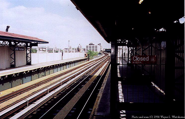 (88k, 745x481)<br><b>Country:</b> United States<br><b>City:</b> New York<br><b>System:</b> New York City Transit<br><b>Line:</b> BMT Canarsie Line<br><b>Location:</b> Sutter Avenue <br><b>Route:</b> L<br><b>Photo by:</b> Wayne Whitehorne<br><b>Date:</b> 6/28/1998<br><b>Viewed (this week/total):</b> 3 / 2063