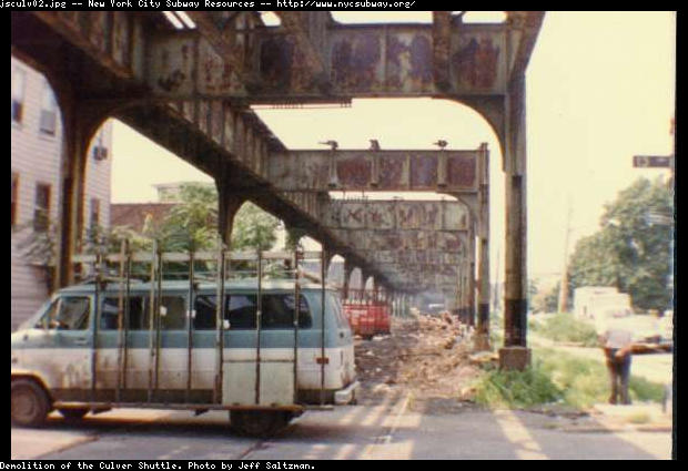 (51k, 620x425)<br><b>Country:</b> United States<br><b>City:</b> New York<br><b>System:</b> New York City Transit<br><b>Line:</b> BMT Culver Line<br><b>Location:</b> Culver Shuttle-Demolition<br><b>Photo by:</b> Jeff Saltzman<br><b>Viewed (this week/total):</b> 2 / 6212